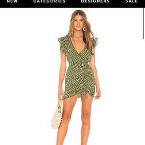 Tularosa Huntington polka dot dress in green